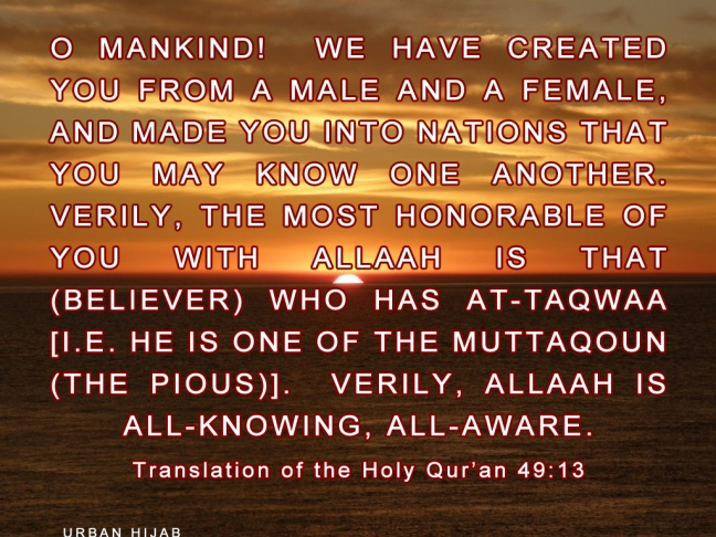 Translation of the Qur'an 49:13