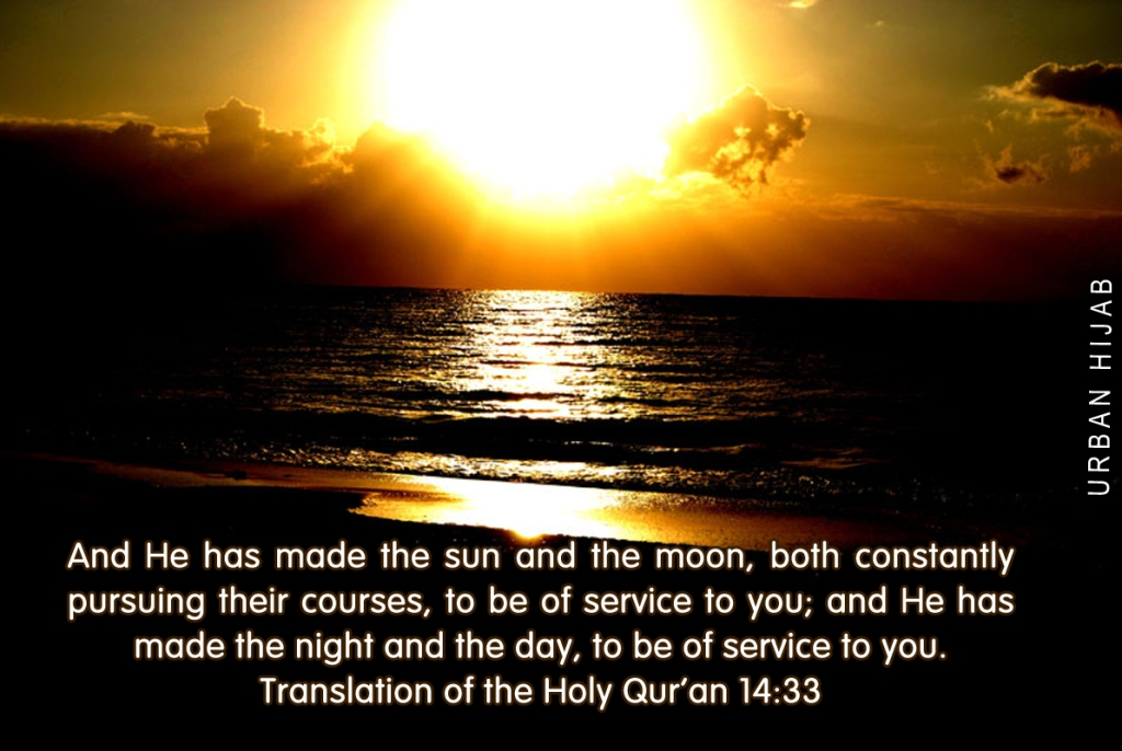 Translation of the Holy Qur'an 14:33