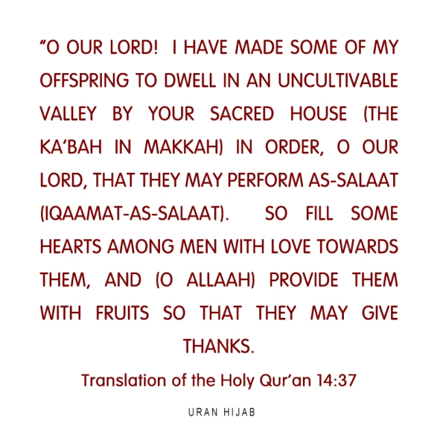 Translation of the Holy Qur'an 14:37