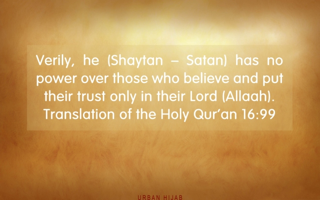 Translation of the Holy Qur'an 16:99