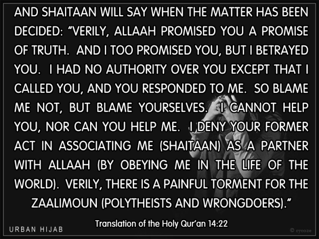 Translation of the Holy Qur'an 14:22