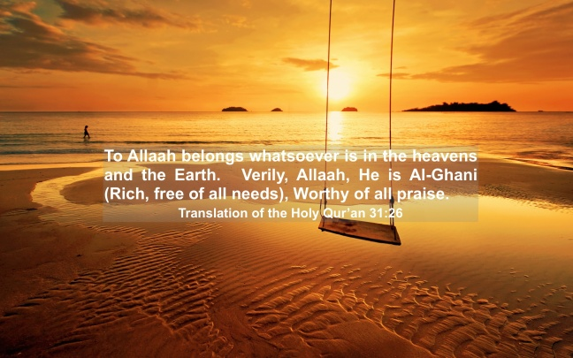 Translation of the Holy Qur'an 31:26